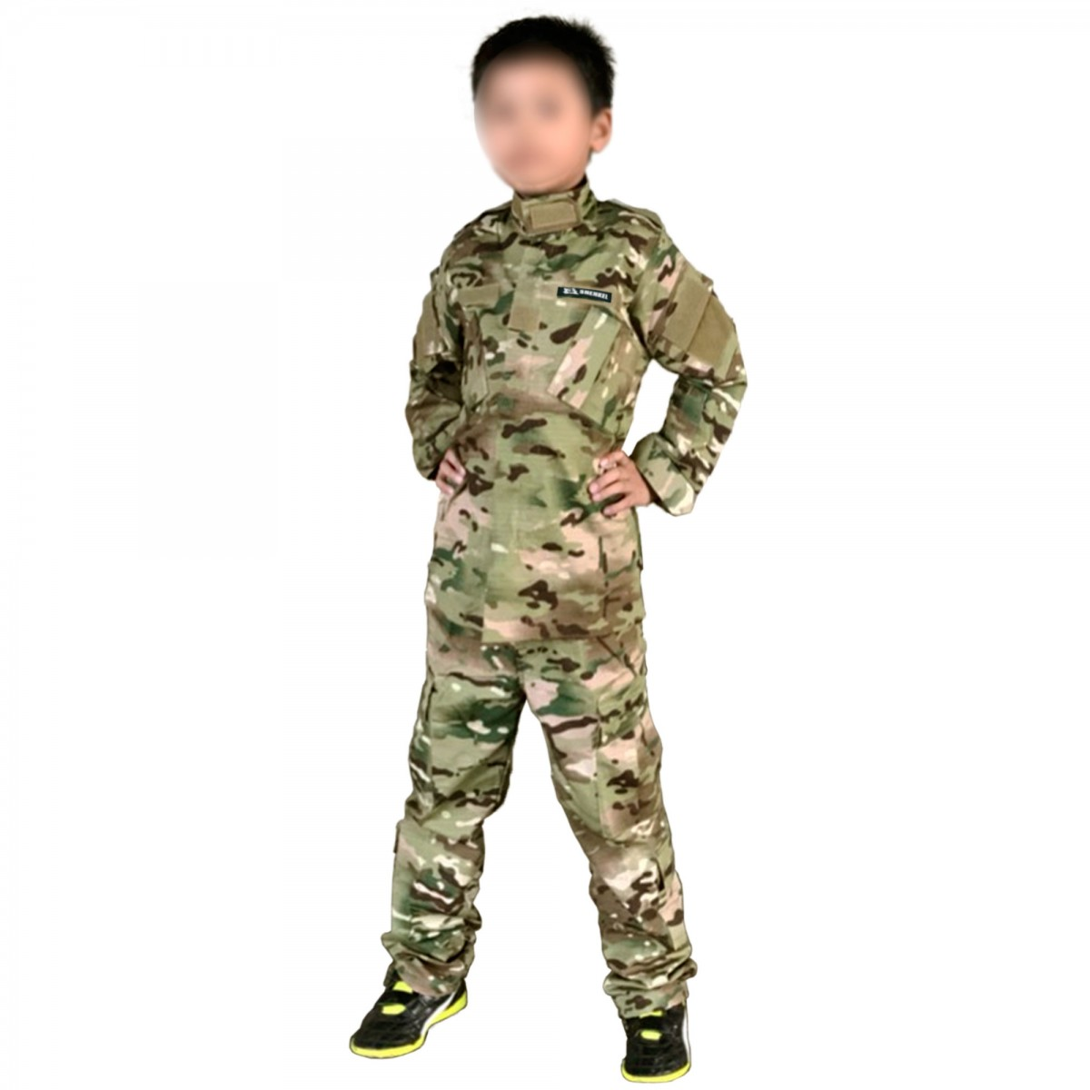 SHENKEL キッズ 迷彩服 上下セット 子供 (130cm) マルチカム 戦闘服 BDU 男の子 女の子 小さいサイズ ※適応身長130~140cm前後