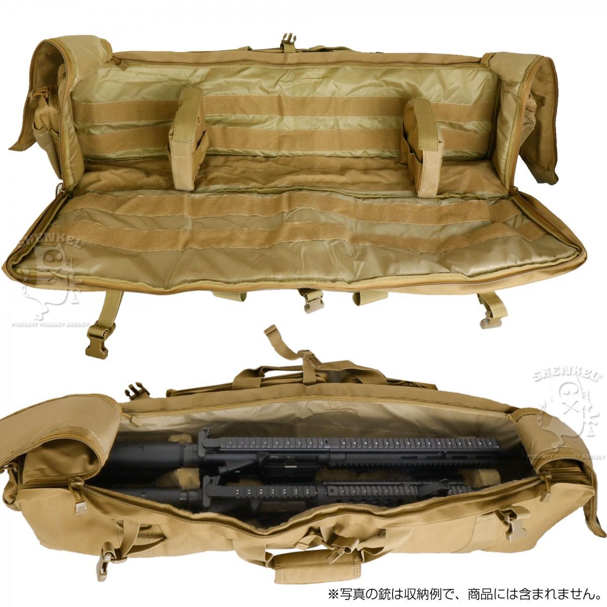 大容量ガンケース アサルトライフル2丁収容可 M249 ライフルケース 100cm