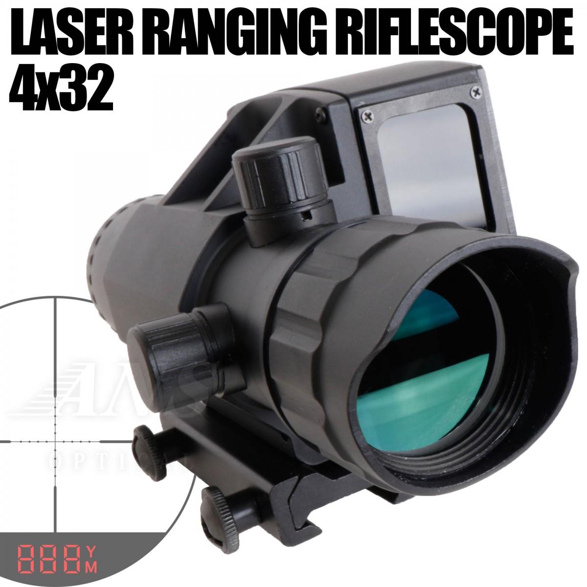 4x32 レーザー距離測定器 スコープ