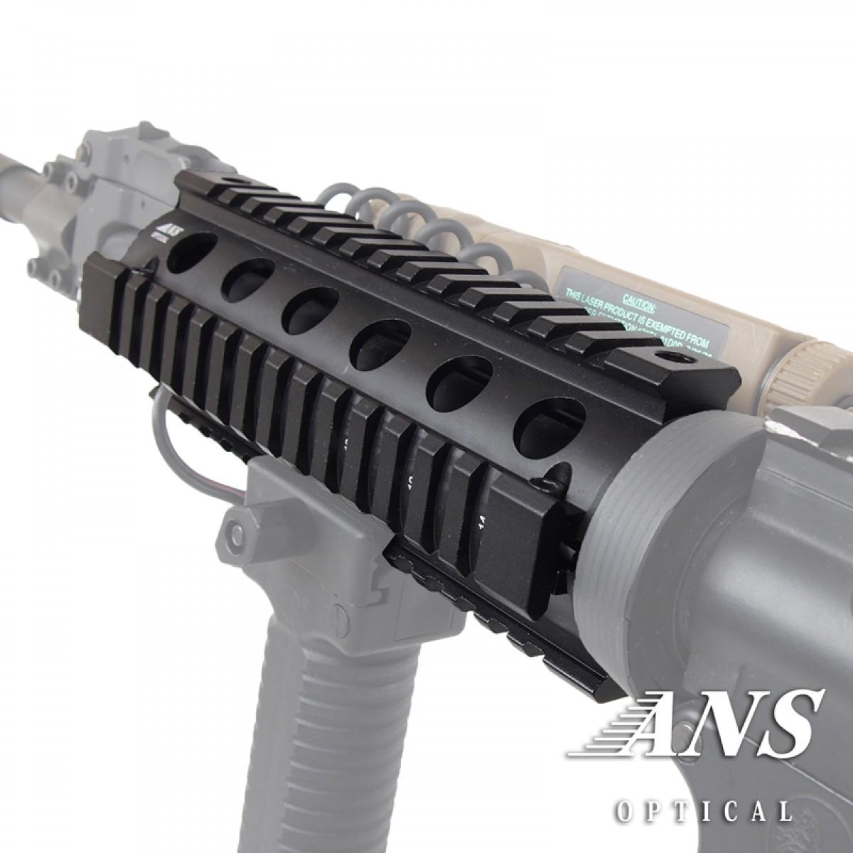 プロモデル クワッドレイルシステム  RIS ハンドガード AR15/M4 6.5 inch BK OD
