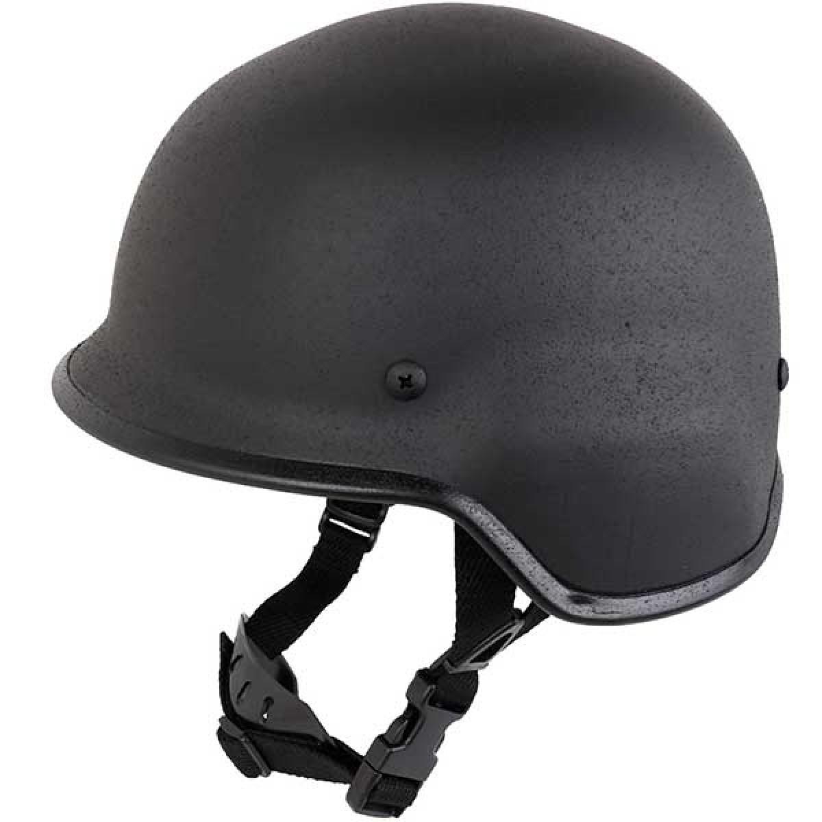 SHENKEL M88 PASGTタイプ スチール製 フリッツヘルメット (BK ブラック) フリーサイズ 鉄製 米軍 黒 ミリタリー サバゲー サバイバルゲーム 単品
