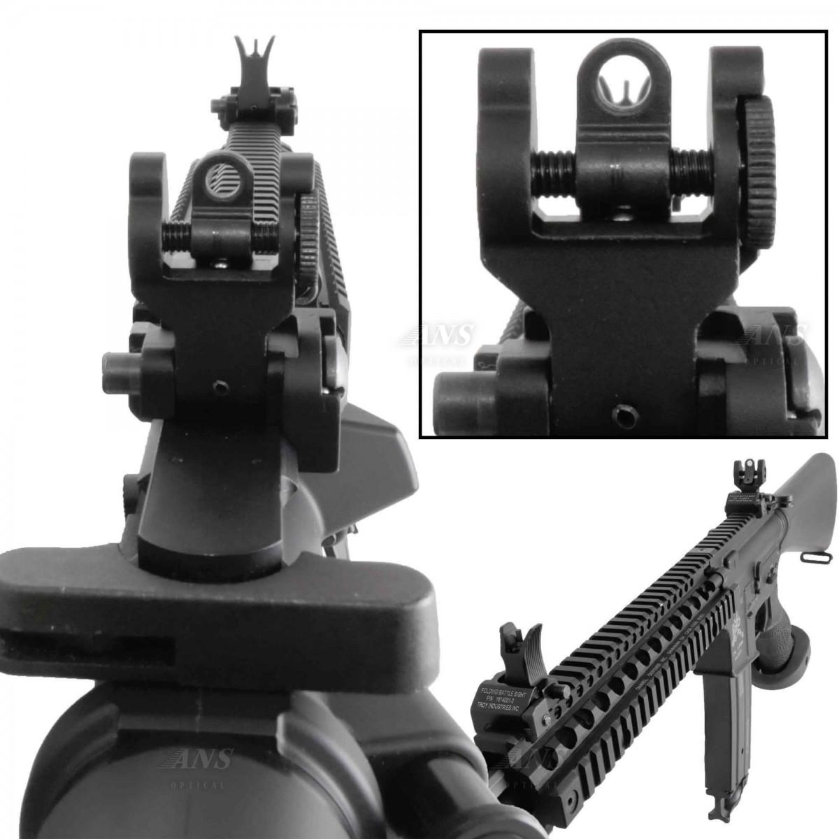 TROYタイプ フォールディング バトルサイト アイアンサイト 前後セット M4スタイル BK 折り畳み  Battle Sight