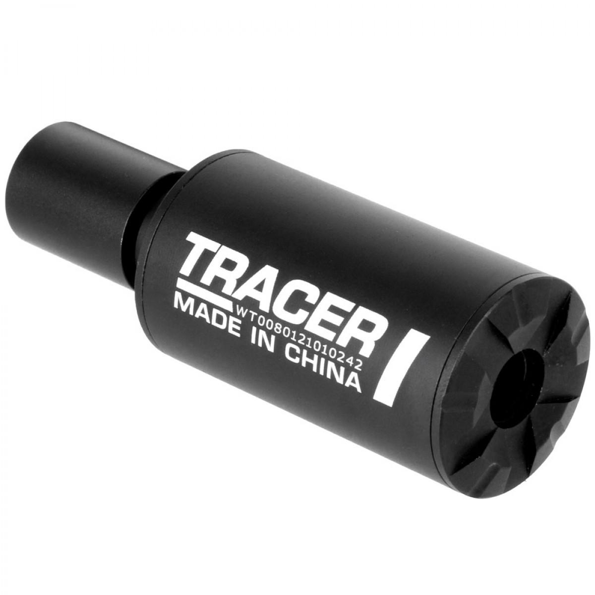ANS Optical 高出力 UV トレーサー フルオートトレーサー 10mm正ネジ 14mm逆ネジアダプター付き サバイバルゲーム 室内 夜戦