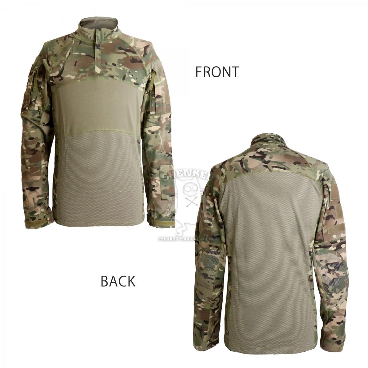 SHENKEL ACS typeIIスタイル  アーミー コンバットシャツ 長袖 ( マルチカム  SMLサイズ ) メッシュ 米陸軍 通気性 乾燥性 クイックドライ