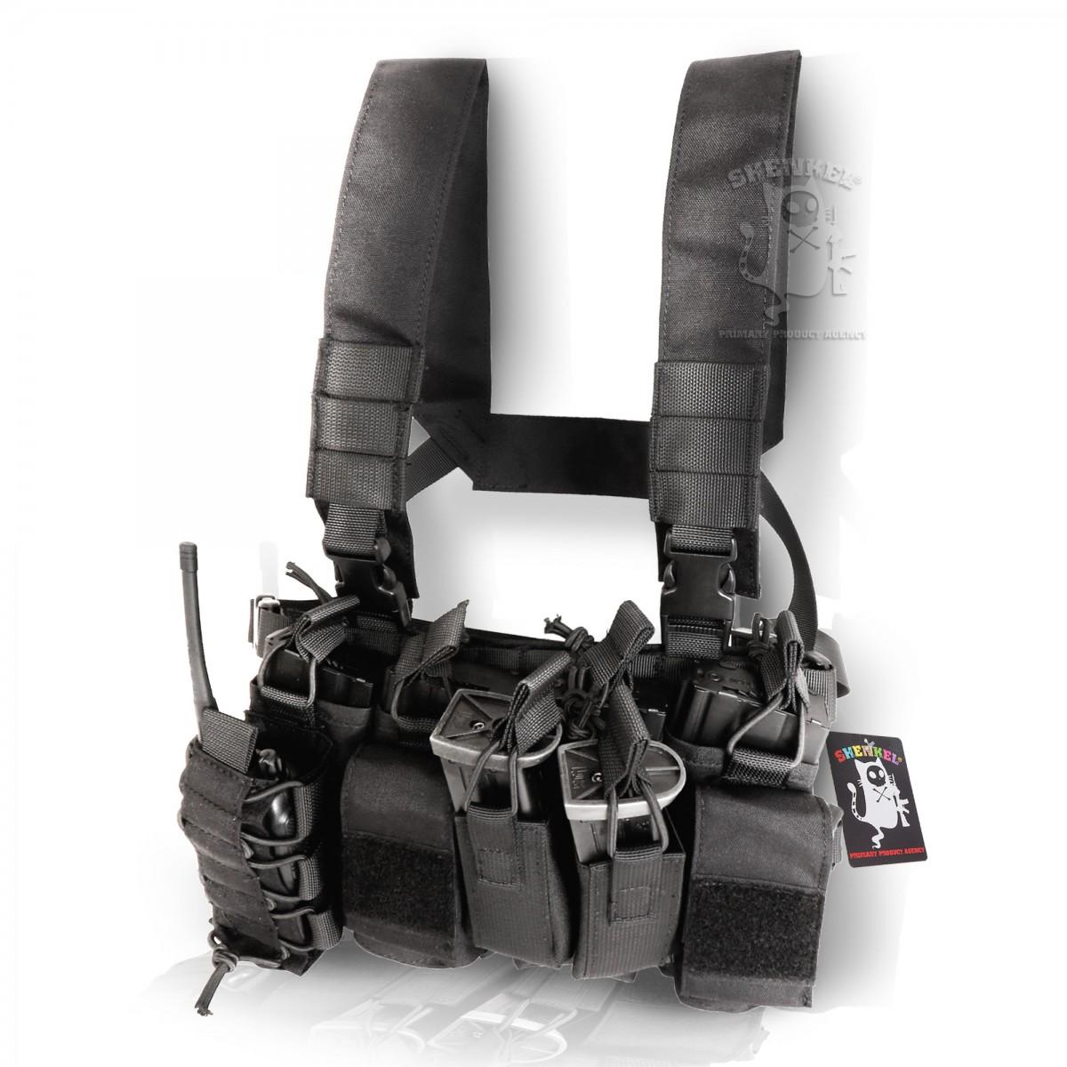 SHENKEL 軽量 コンパクト D-3タイプ チェストリグ ライトウェイト 3色( BK/MC/TAN  ) 軽装備 サバゲー サバイバルゲーム ベスト